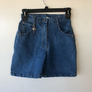 Vintage Original True Blue high waist jeans shorts